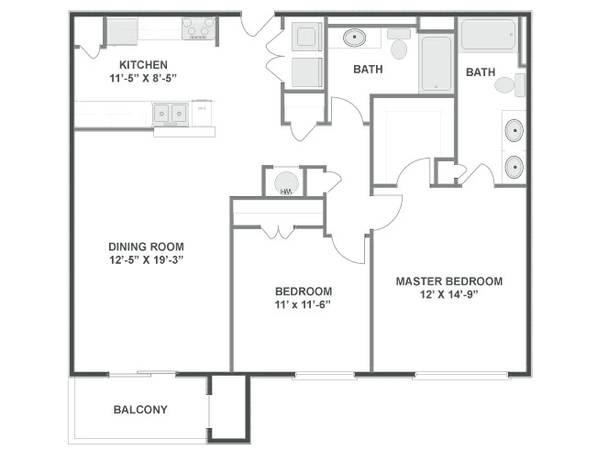 2br 1110ft spacious two bedroom two bath with washer for 2 bedroom 2 bathroom apartments for rent
