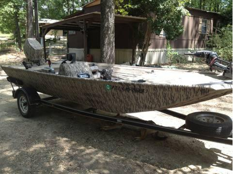 how to make duck camo a boat