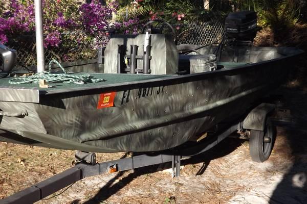 16ft Custom Jon Boat For Sale In Sebring Florida