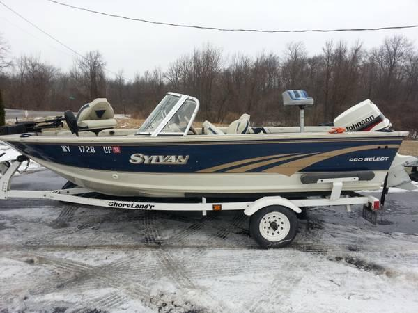 16ft sylvan metal fishing boat for sale in driscoll