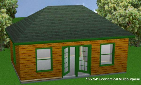 16X24 Cabin Plans