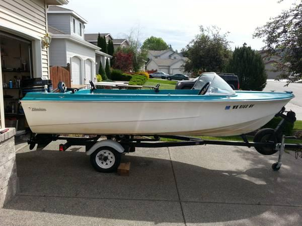 17' 1960's Fiberform with a Mercury 850 Outboard - $700