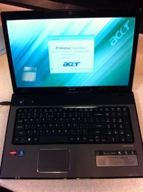 17.3 Acer Laptop 2.2GHz QuadCore 4GB 500GB WebCam WiFi HDMI Winows7