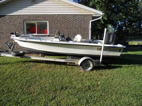 17 39 6 sea strike fishing boat with trailer for sale in for Fishing boats for sale in ohio