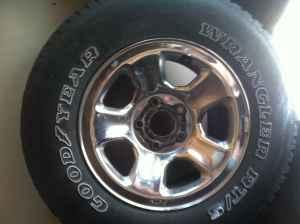 17 dodge ram wheels - $100 berryton