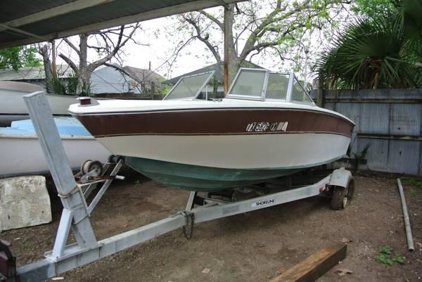 17 39 higgs craft boat chrysler 90 engine shoreline for Metal craft trailers parts