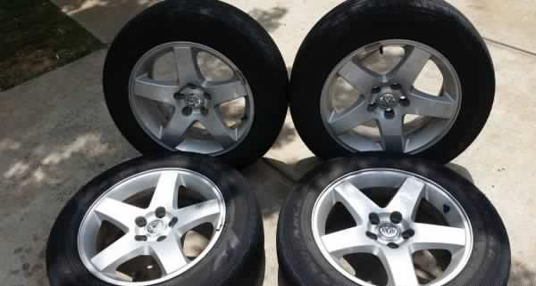 17 inch Dodge wheels and Goodyear tires