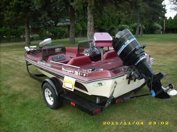 17 39 ranger bass boat 235v 115 hp mercury outboard for for Bass boats with evinrude motors