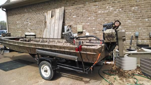 Boat+Mud+Motors+For+Sale 1744 Duck Boat built for mud motor - for Sale