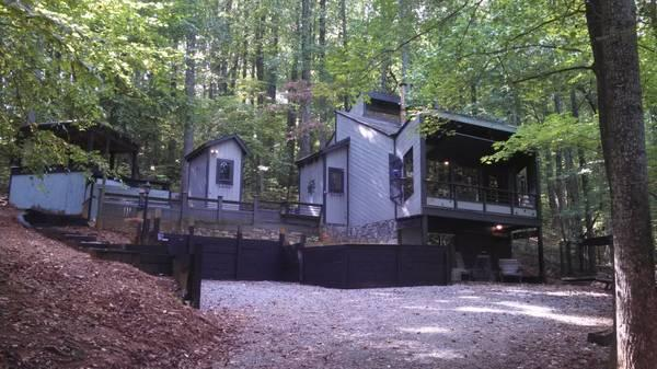 175 two br perfect escape modern cabin with hot tub for Charlottesville cabin rentals hot tub