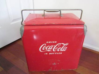 Antique Coca Cola Picnic Cooler 1950 S This Is A Steal