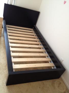 175 ikea malm twin size bed with mattresss