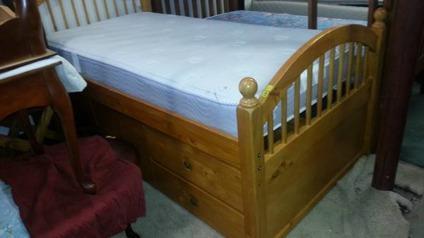 Light Wood Twin Captain Bed Frame For Sale In Anchorage