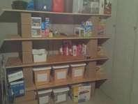176 square feet surface area of shelves