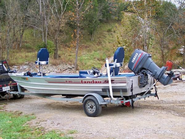 18 foot landau bass boat 75 hp yamaha fish fishing for for Bass fishing boats for sale