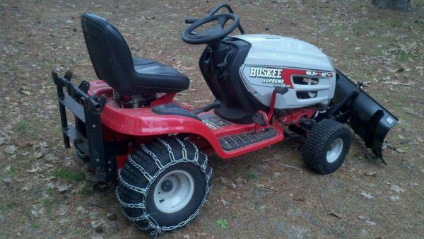 18 horse Huskee tractor with plow  - $1150 (Lapeer)