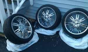 18 in Chrome Rims and Tires - $450 tonawanda