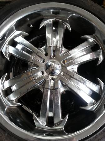 18 INCH CHROME WHEELS and TIRES...*5* LUG UNIVERSAL*SALE* - for Sale in Greenville, North ...