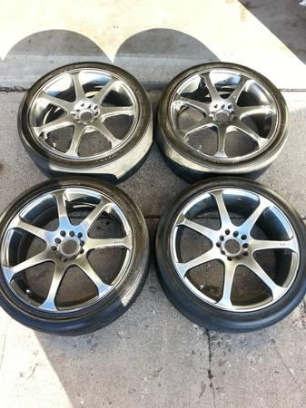 "18"" INCH WHEELS AND TIRES MOTEGI RACING MR7 WHEEL TIRE SET ..."
