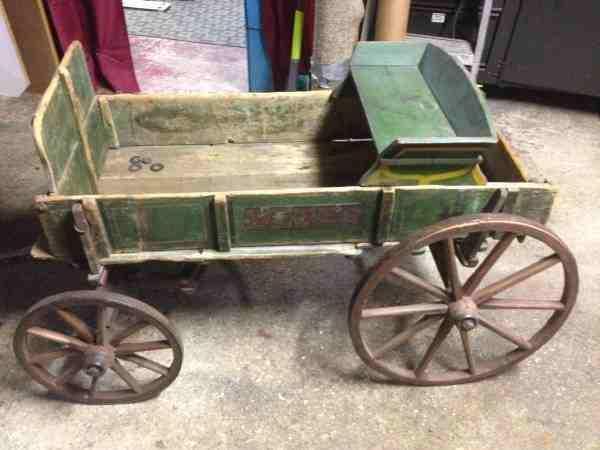 1800s Weber wooden wagon