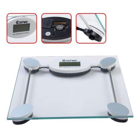 180kg/396lb Digital Personal Body Glass Weight LCD