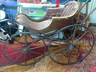 1827 Antique Baby Buggy