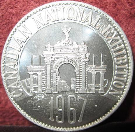1867-1967 Canadian National Exhibition Comm. Medallion