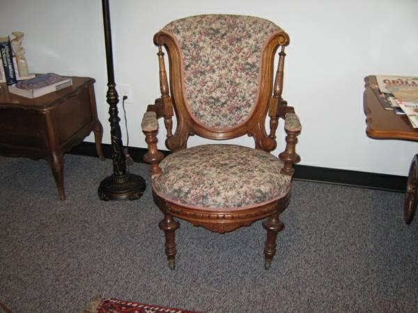 1870s victorian parlor chair for sale in bucks bar california