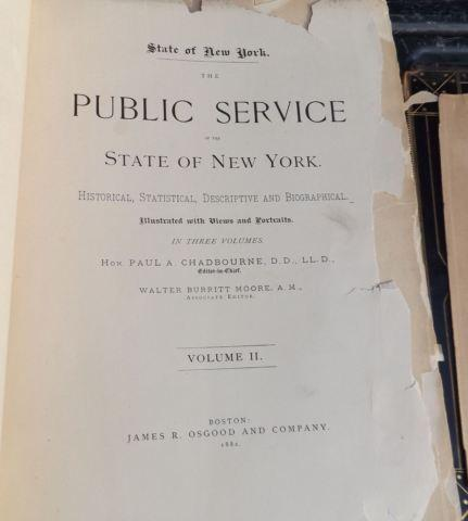 1882 Historical Public Service of New York, Bios,