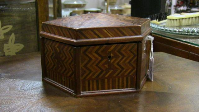 1890's Marquetry Jewelry Box