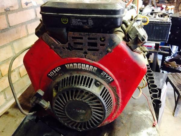 18hp briggs and stratton v twin vanguard engine for a mud for Vanguard motors for sale