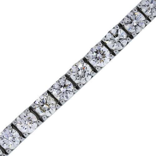 18k White Gold 21.78Ctw Diamond Tennis Bracelet