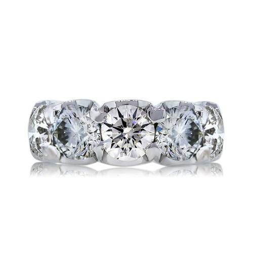 18k White Gold 5.50ctw Round Brilliant Diamond Wedding