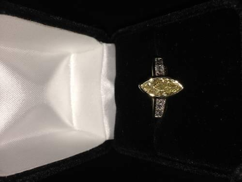 18k Yellow Gold 2ct Diamond Engagement Ring For Sale In