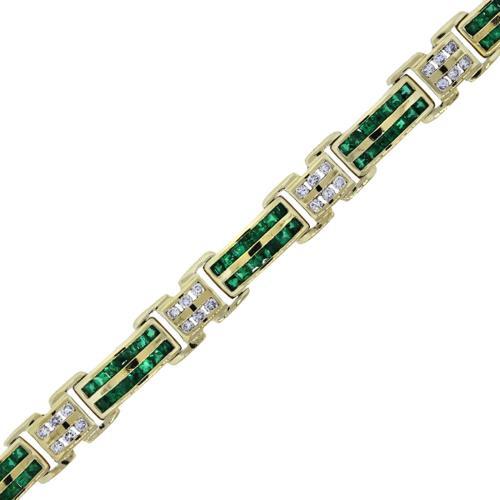 Beautiful 18k Yellow Gold Tsavorite & Diamond Ring Kogf885rezztv Fine Rings