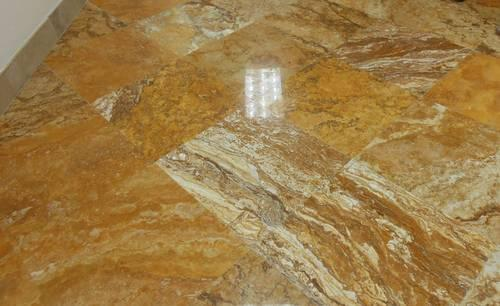 18x18 Gold Polished Travertine Tiles Clearance
