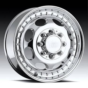 19.5 Chrome Wheels Tires Package Dually Ford F350 8 Lug Ready to Bolt
