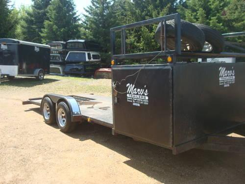 """Race Car Trailer For Sale: 19"""" 6"""" OPEN PIT RACE CAR TRAILER For Sale In Somerset"""