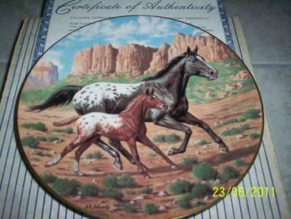 $19 Collectors Horse Plate,Appaloosa, by Donald