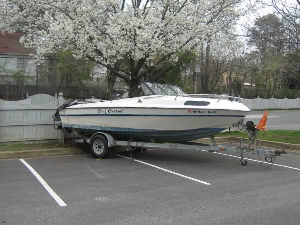 19 ft trailer and boat - $700