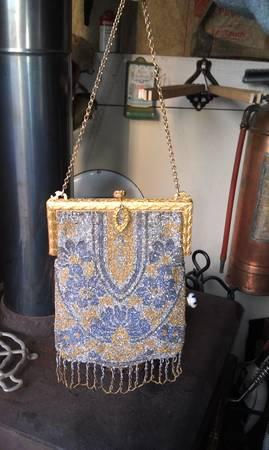 1900 Metal Beaded Flappers purse - $250