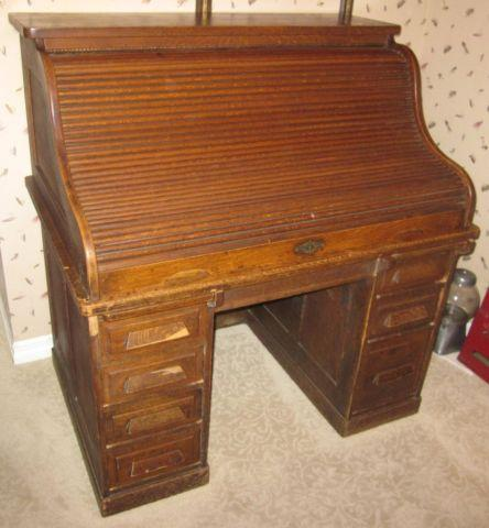 1900s-1910s Antique Roll Top Desk Minneapolis Furniture - 1900s-1910s Antique Roll Top Desk Minneapolis Furniture For Sale In