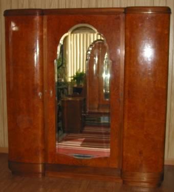 1920 S 30 S Art Deco Armoire Amp Dresser Set Burl Wood