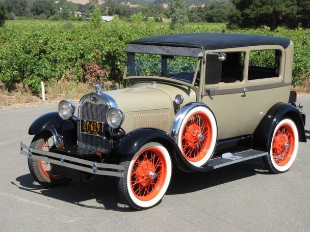 1929 ford model a tudor sedan highly optioned restored california car for sale in san francisco. Black Bedroom Furniture Sets. Home Design Ideas