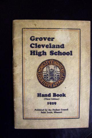 1929 Grover Cleveland High School Handbook Third Edition