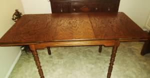 1932 Amish Antique Hoosier Oak Dining Table New Castle,