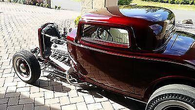 1932 Ford 3 Window Coupe Hot Rod Street Rod Chopped Kustom