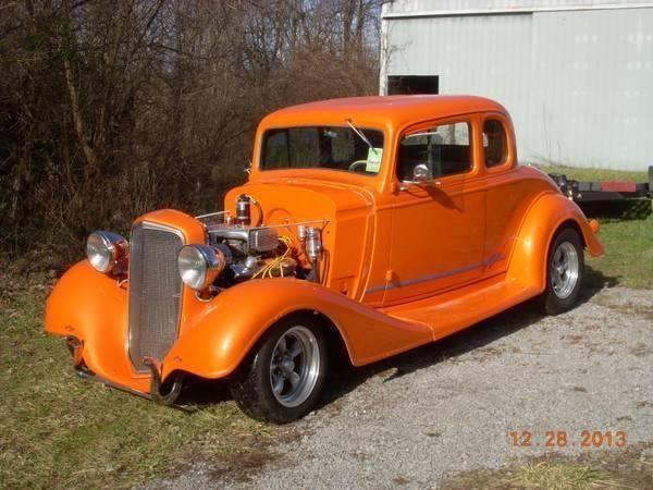1934 Chevy 5 window coupe hot rod for sale