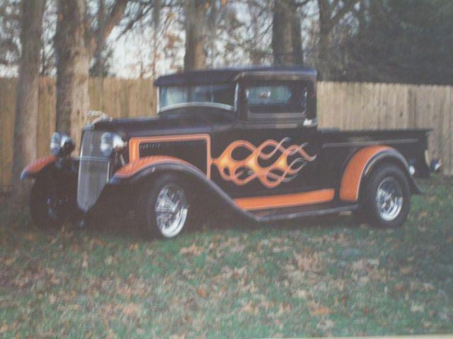 1934 ford all steel full fendered 70s custom street rod pickup truck for sale in lawrenceburg. Black Bedroom Furniture Sets. Home Design Ideas