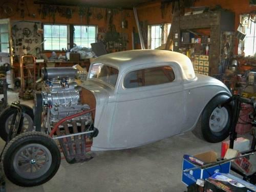 1934 Ford Fiberglass 3 Window Coupe For Sale In Cherry